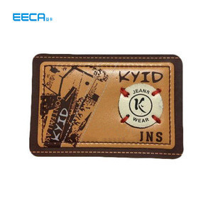 Luxury Custom Embossed Pu Leather Patches Jeans Labels Brand For Clothes/Printing And More