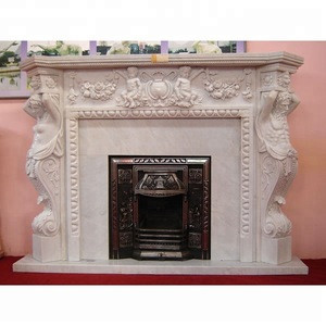 Marble modern electric fireplace decorate