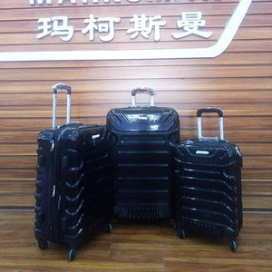 Markets like travel luggage bags ABS or PC China baigou professional production luggage factory student,dedails universal wheel
