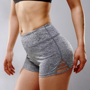 OEM Activewear Women Plain High Waist Compression Soft Quick Dry Running Crossfit Fitness Yoga Shorts