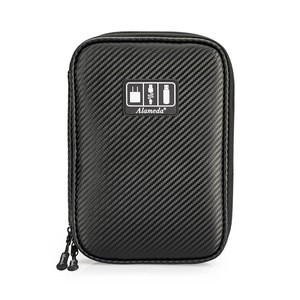 Portable PU Electronic Organizer Bag Travel Gear USB Cable Organizers for Power Charger Hard Drives Cables Phone SD Card