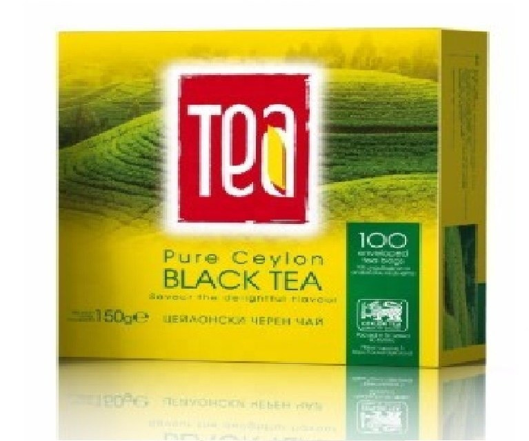 Pure Ceylon Black Tea Packed In 100 Filter Tea Bags Private Label | Wholesale | White Label