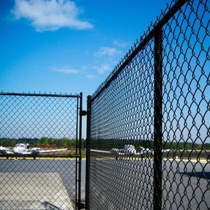 PVC galvanized coated chain link fence Used chain link fence gates for sale