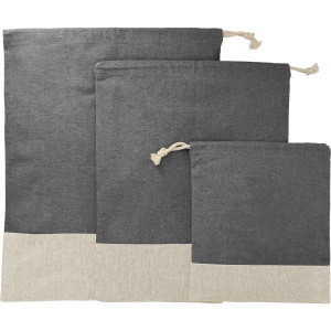 Split Recycled 3pc Travel Pouch Set with your custom logo