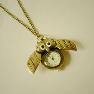 Sweater chain Nostalgic perfume bottle pocket watch necklace Retro pendant necklace