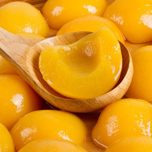 Syrup Preserved canned food yellow peach fruit in tin cans 425g