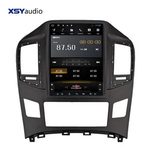 Tesla Style Android 8.1 PX9 8 Core Car dvd Player for Hyundai H1 with 4GB RAM GPS Navigation Video Radio Fm Converter Stereo BT