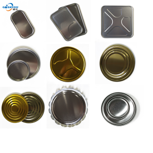 Tin lid/Tinplate metal cover/bottom/Tin End for Round tin can  Square can