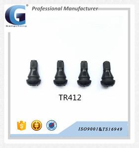 TR412 Ningbo GC motorbike brass stem+EPDM high quality snap-in tubeless tyre valve tire valve