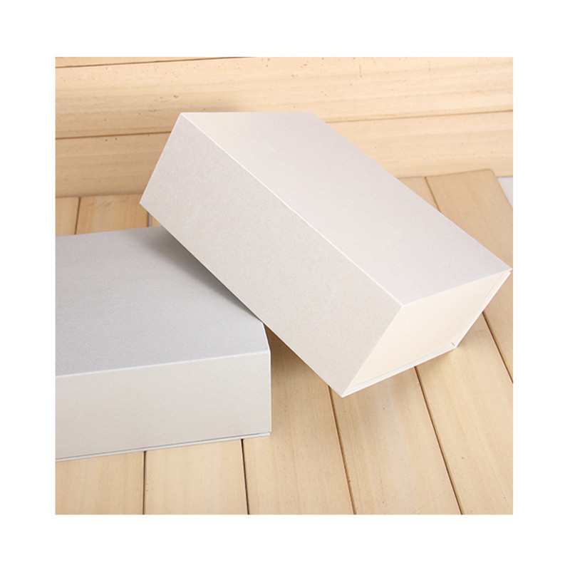Wholesale Simple Appearance Custom Logo Paper Box Rigid Rectangle Packaging Box For Gift