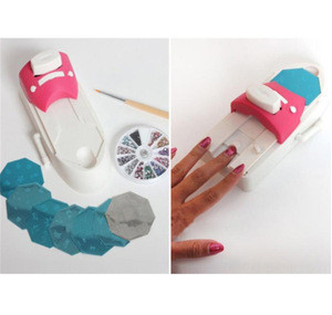 Women Nail Supplies Painting Arts Device Kits All-In-One Plate Scraper Stamper Machine DIY Pattern Tool