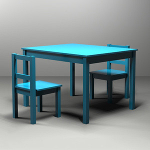 Wood Children Table And Chair Set Children's Furniture  drawing table