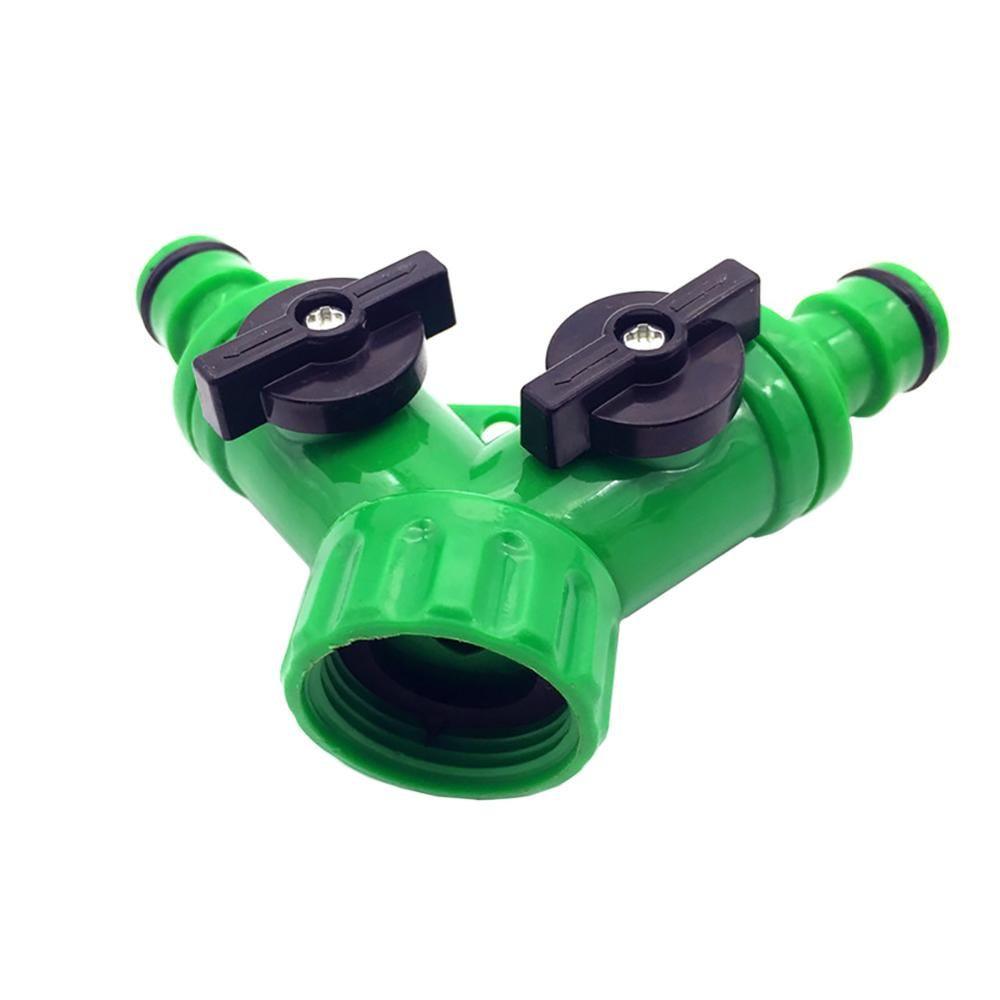 "3/4"" Y type water separator connector Garden Hose Faucet 2 Way Splitters valves"