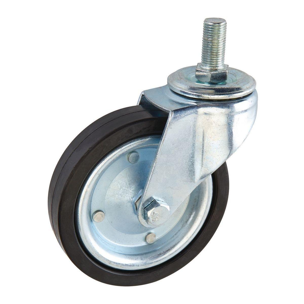 Caster Double Bearing Furniture Hardware All Size Nylon Swivel Caster Wheel 4 In. Hard Rubber Heavy Duty Swivel Caster