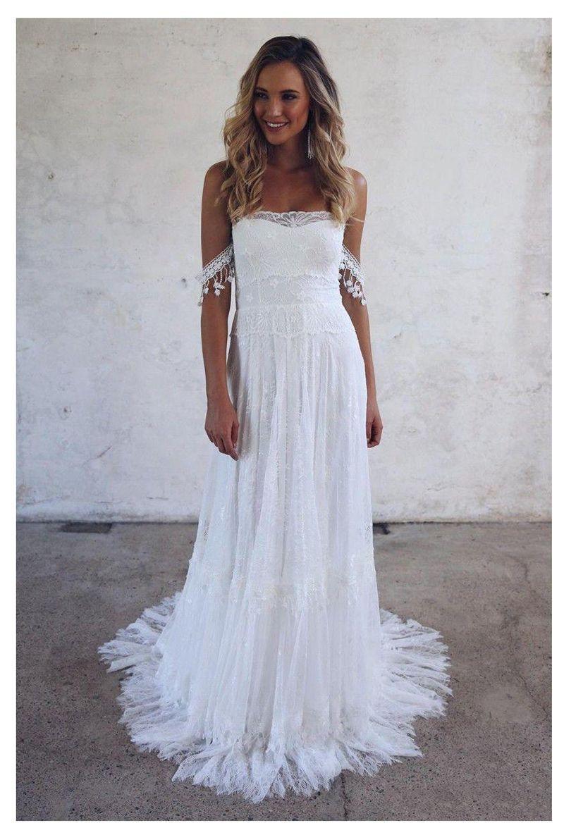 free shipping Beach Wedding Dress 2019 Lace Strapless Sexy Bride Dress Backless Vestido De Novia Bride Wedding Gowns Lorie Wedding gowns