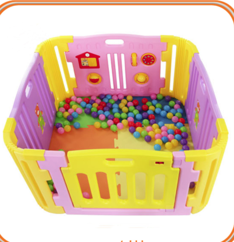 Foldable Plastic Baby Playpen,Toddler Safety Monitor Gate