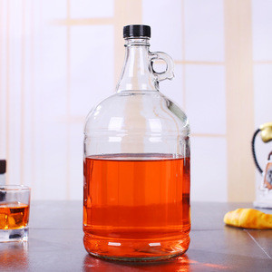 1L 2L 4L Empty Glass Syrup Bottles For Canning with Metal Lids Glass Maple Syrup Bottles California Red Wine Bottle