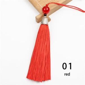 2pcs/lot Silk Tassel Fringe brush Sling Tassels Trim with beads pendant for Sew Curtains jewelry Accessories DIY Wedding Decor