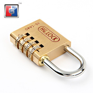 3 digital combination Brass combination luggage mailbox lock suitcase brass number padlock