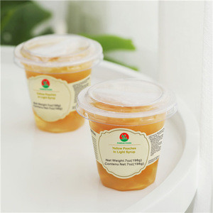 7oz/197g Peach Canned Food in Light Syrup With or W/O Spoon OEM Factory Direct Canned Fruit