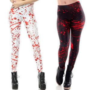 Custom logo ladies trousers polyester spandex yoga pants Halloween styles