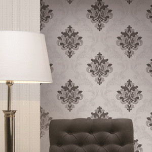 Damask Design Non-woven PVC Wallpapers Wall Coating