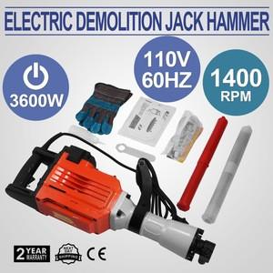 Electric Demolition Hammer 3600 Watt Heavy Duty Concrete Jack Hammer with Point Flat Chisels Electric Demolition Jack Hammer Con