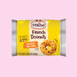 French Doonuts Chocolate Chip Cake 1-count, 30 grams, 50 packs / case