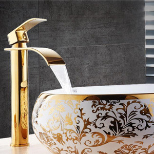 Gold and  Brass Bathroom Faucet Bathroom Basin Faucet Mixer Tap Hot and Cold Sink faucet