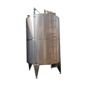High precision and affordable 8000L stainless steel single layer storage tank