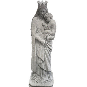 Natural Stone hand carved cemetery angel statue,Outdoor Granite Stone Sculpture for garden