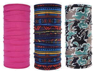 navy blue outdoor Seamless neck Tube multifunctional headwear bandana