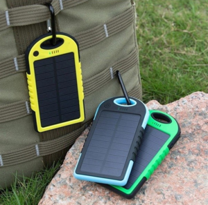New Hot Battery Portable Waterproof Solar Power bank Mobile Phone Charger