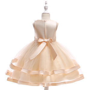 New One Piece Baby Girl Dresses Floral Party Dress Design