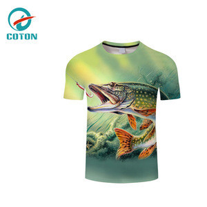 OEM logo cheap price fishing wear Plus Size fishing shirt custom sublimation printing Breathable fishing clothing