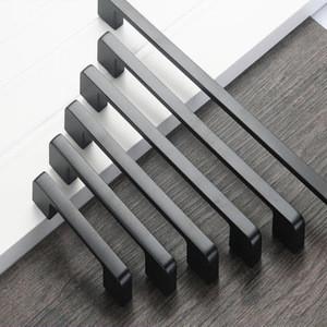 Various Styles window and door aluminum black handle with plate aluminum