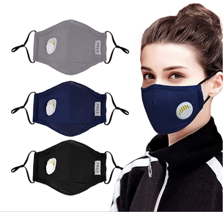 Anti -dust Reusable Cotton Face mask /Washable Cotton face mask with valve
