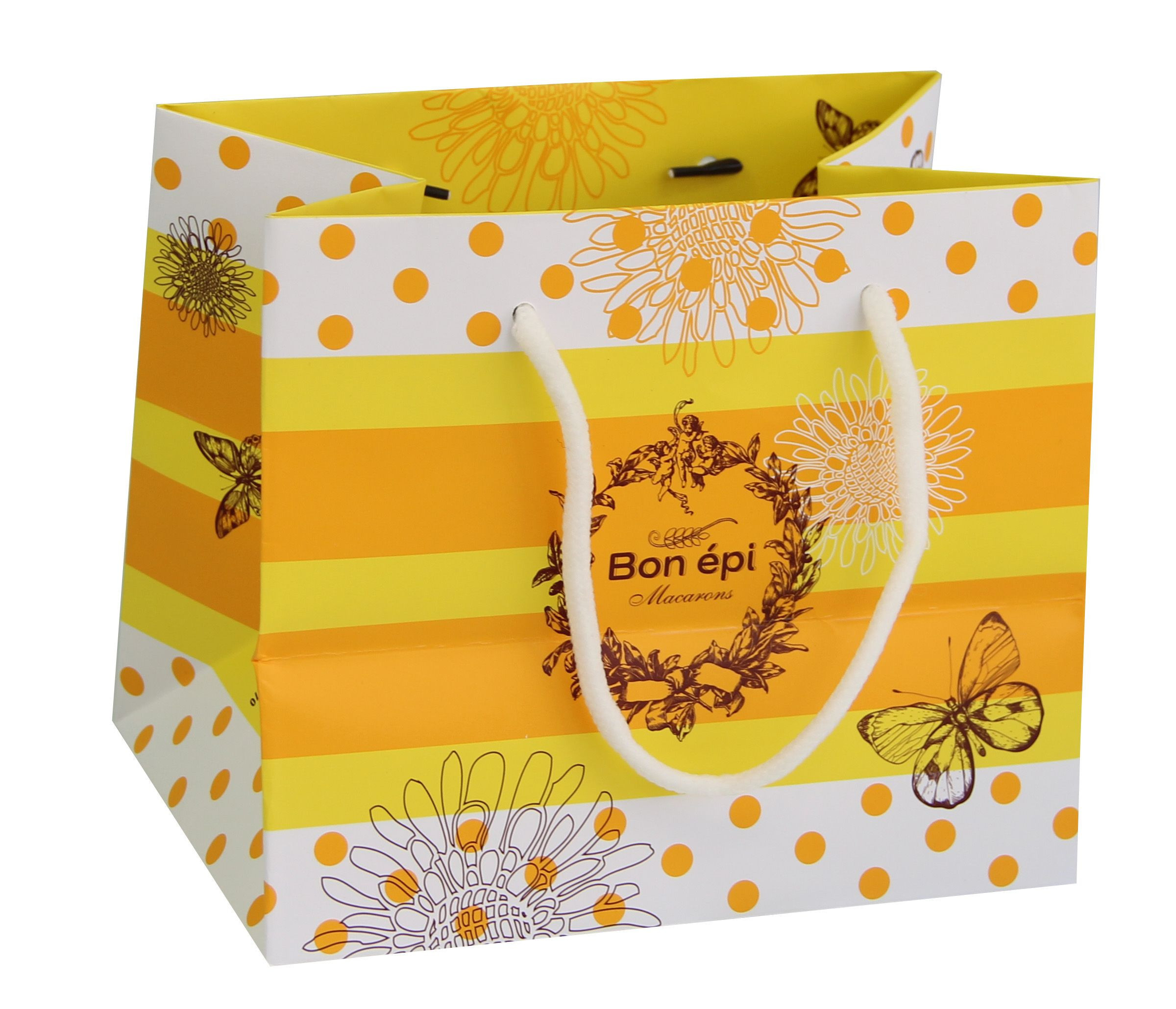 Customized Shopping Bag for Packaging Chocolates with Gold Logo