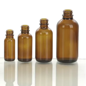 Boston round glass bottle with various of size and color
