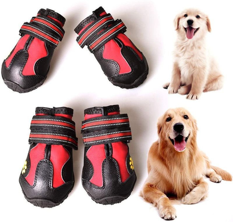 CovertSafe Dog Boots for Dogs Non-Slip, Waterproof Dog Booties for Outdoor Dog Shoes for Medium to Large Dogs 4Pcs