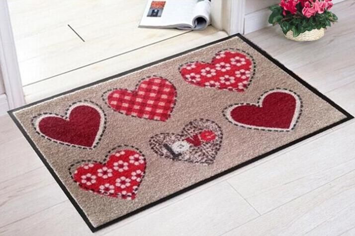 100% Nylon Printed Surface Door Mat with Rubber Backing