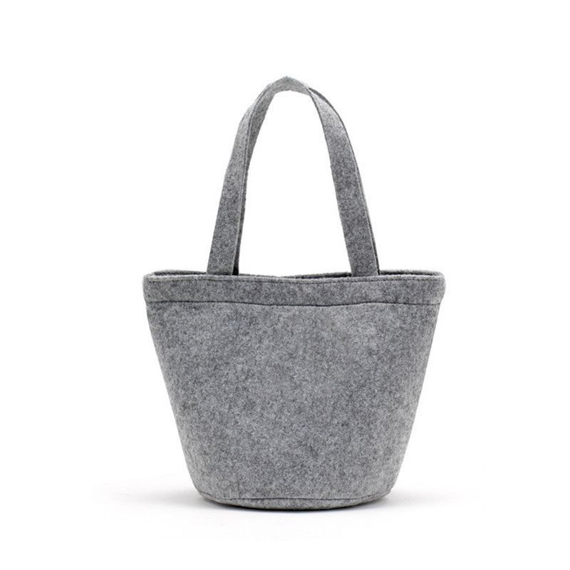 Custom fashion felt shopping shoulder bag woman