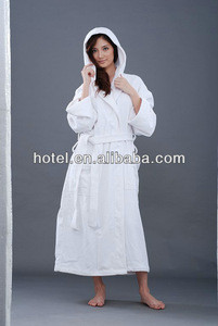 100% Cotton Comfortable sexy women Bathrobes Sleepwear with hood