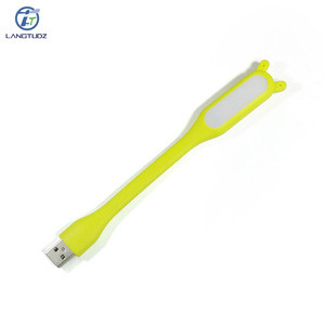 2018 Gift Cheap Gadget Custom LOGO Portable Mini USB Cute Ear Led Reading Light