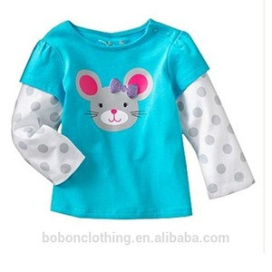 2018 new test passed cotton long shirt for kids