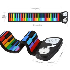 49-key Hand Roll Silicone Children Electronic Piano