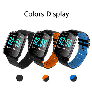 A6 Smart Watch Touch Screen Wristband Water Resistant Smartwatch Heart Rate Monitor Calories and Pedometer for Apple iOS Android