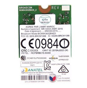 BCM943602BAED DW1830 AC BCM943602 NGFF M.2 1300Mbps BT4.1 WiFi Wireless Network Card better than BCM94352Z DW1560 support mac os