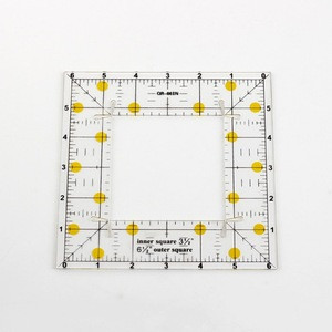 Clear acrylic square patchwork sewing design rulers Straight plastic rulers with CNC machine craft
