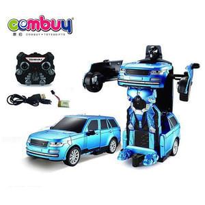 Control  2.4G kids play transform toy rc car remote robot